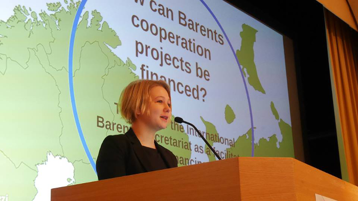 Laura in Barents Cooperation Forum.jpg